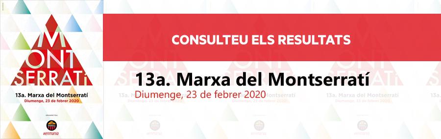 Resultats tretzena Marxa del Montserratí